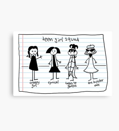 Teen Girl Squad Canvas Print