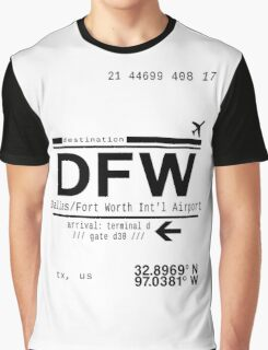 DFW international airport call letters Graphic T-Shirt