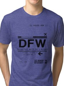 DFW international airport call letters Tri-blend T-Shirt