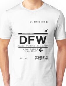 DFW international airport call letters Unisex T-Shirt