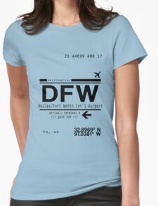 DFW international airport call letters Womens Fitted T-Shirt