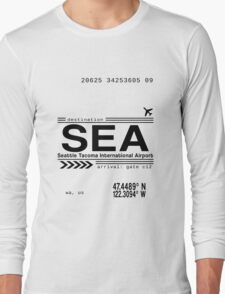 Seattle Tacoma International Airport Call Letters Long Sleeve T-Shirt