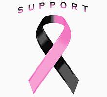 Black & Pink Awareness Ribbon of Support Unisex T-Shirt