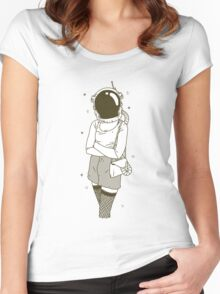 The Woman In Space Women's Fitted Scoop T-Shirt