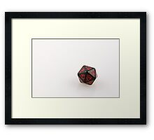 Dragon D20 Framed Print