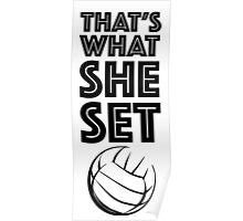 That's what she set! Poster
