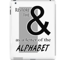 Ampersand: the Lost Letter iPad Case/Skin