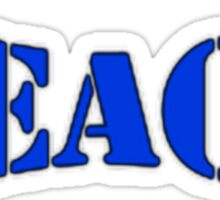 Teach Peace Blue Sticker