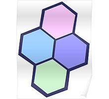 hexagonal pastel design Poster