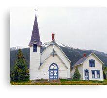 Silverton, Colorado, Congregational Church Canvas Print