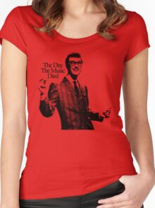 BUDDY HOLLY : THE DAY THE MUSIC DIED Women's Fitted Scoop T-Shirt
