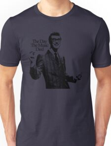 BUDDY HOLLY : THE DAY THE MUSIC DIED Unisex T-Shirt