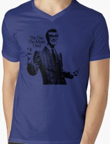 BUDDY HOLLY : THE DAY THE MUSIC DIED Mens V-Neck T-Shirt