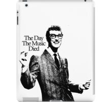 BUDDY HOLLY : THE DAY THE MUSIC DIED iPad Case/Skin
