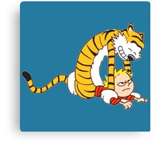 CALVIN & HOBBES : CATCH YOU! Canvas Print