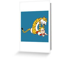 CALVIN & HOBBES : CATCH YOU! Greeting Card