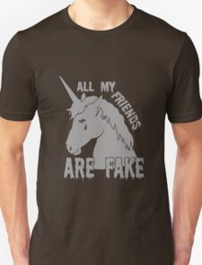 All My Friends Are Fake funny nerd geek geeky T-Shirt