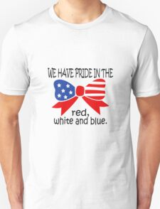 America Red White And Blue funny nerd geek geeky T-Shirt