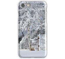 The Garden Door in Winter iPhone Case/Skin