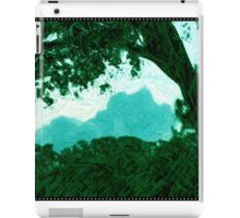 Colored Pencil Art Sky and Tree iPad Case/Skin