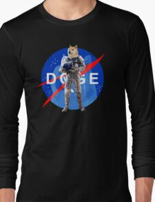 Doge Astronaut In Space Long Sleeve T-Shirt