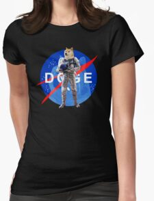 Doge Astronaut In Space Womens Fitted T-Shirt