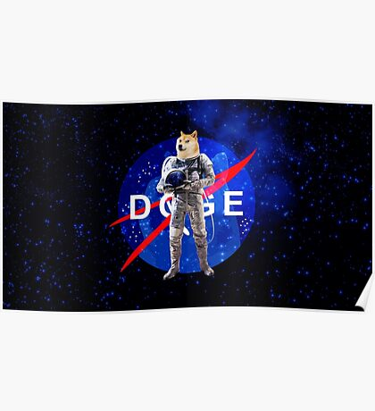 Doge Astronaut In Space Poster