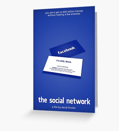 The Social Network film poster Greeting Card