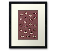Fleshy Eyeballs Framed Print