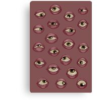 Fleshy Eyeballs Canvas Print