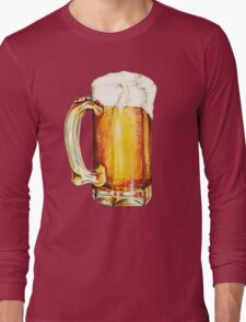 Bier Pattern Long Sleeve T-Shirt