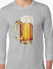Bier Pattern Long Sleeve T-Shirt