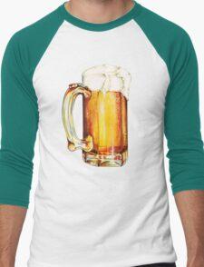Bier Pattern Men's Baseball ¾ T-Shirt