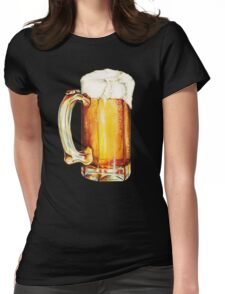 Bier Pattern Womens Fitted T-Shirt