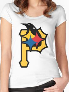 Pittsburgh Pirates Good Logo Women's Fitted Scoop T-Shirt
