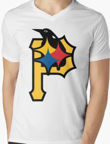 Pittsburgh Pirates Good Logo Mens V-Neck T-Shirt