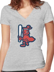 Boston Red Sox Doll Women's Fitted V-Neck T-Shirt