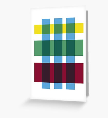Primary Plaid Greeting Card