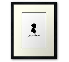 Jane Austen; signature and silhouette Framed Print