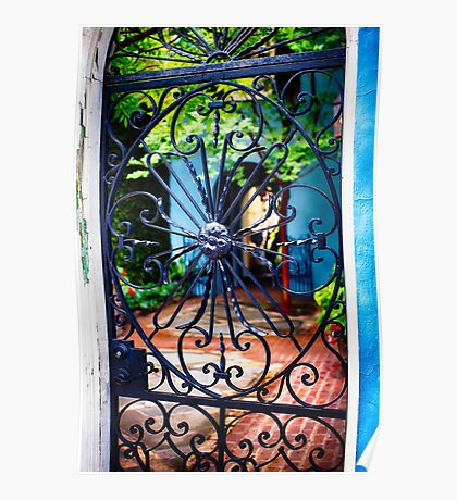 Southern Style Wrought Iron Gate Poster