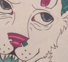Abstract Cartoon Wolf - Sticker