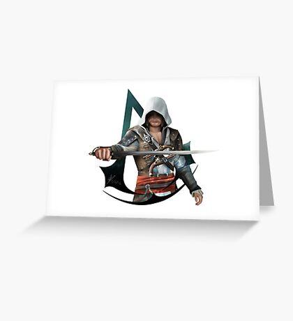 Edward Kenway (Assassins Creed Black Flag) Greeting Card