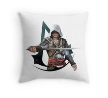 Edward Kenway (Assassins Creed Black Flag) Throw Pillow