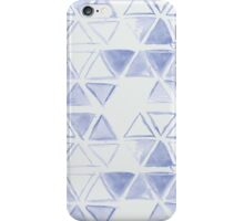 simple watercolor triangel pattern iPhone Case/Skin