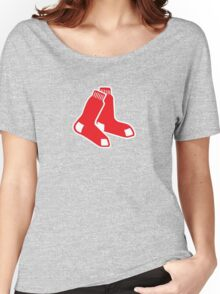 Boston Red Sox Logo Women's Relaxed Fit T-Shirt