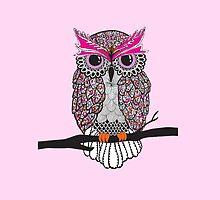 Pink Owl  by hayleylauren