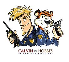 Calvin And Hobbes Private Investigation Photographic Print