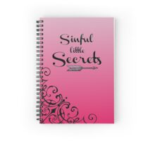 """Sinful Little Secrets"" Journal Spiral Notebook"