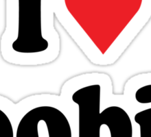 I Heart Love Boobies Sticker