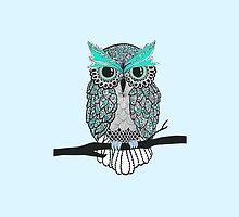 Green Owl by hayleylauren